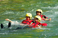 The white water activities for holiday centers