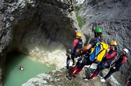 Canyoning in the Southern Alps