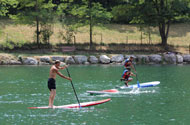 Stand Up Paddle activitie on the river Ubaye