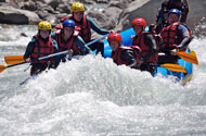 Rafting activitie on the river Ubaye