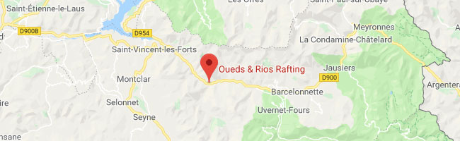 Localiser Oueds & Rios Rafting sur Google Map
