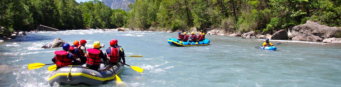 Very beautiful rafting trip on the Ubaye and beautiful landscapes