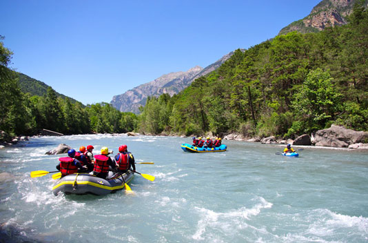 Rafting on the Ubaye River