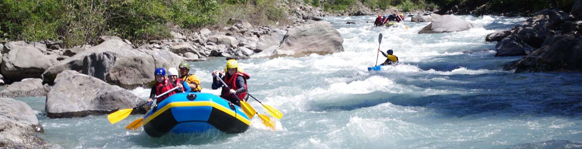 The Ubaye rapids near Barcelonnette and Embrun, sensations guaranteed